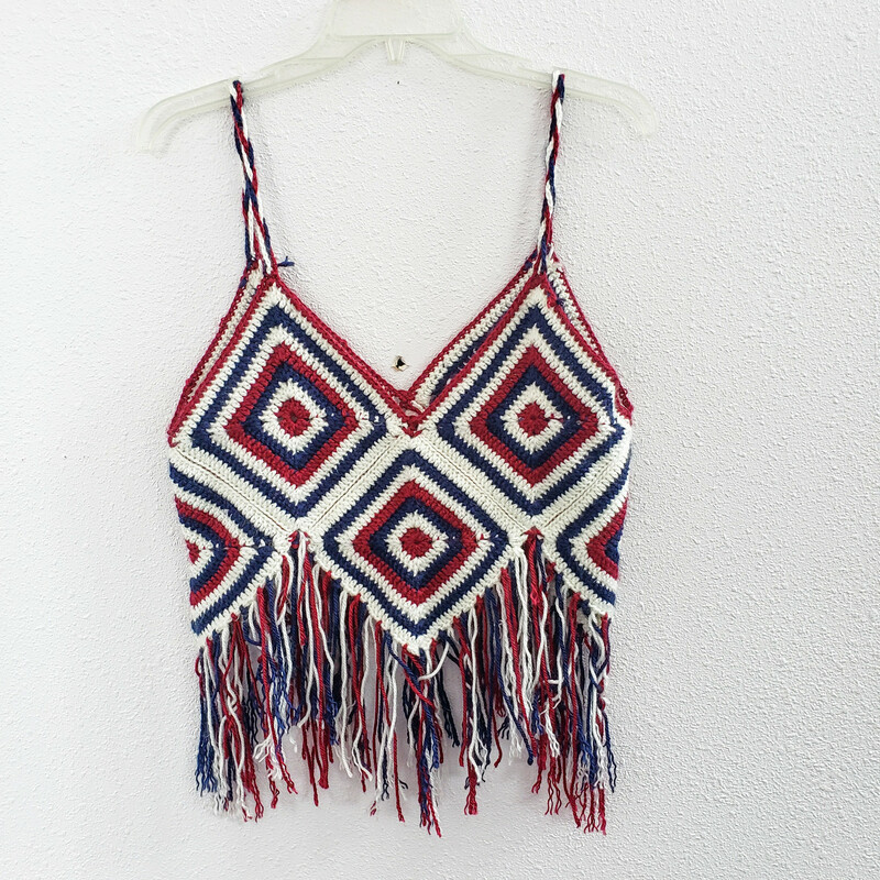 Crochet<br /> Burgundy Navy and White<br />  Size: One