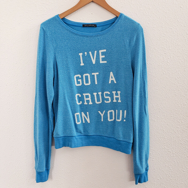 Wildfox Crush On You, Blue, Size: Xs