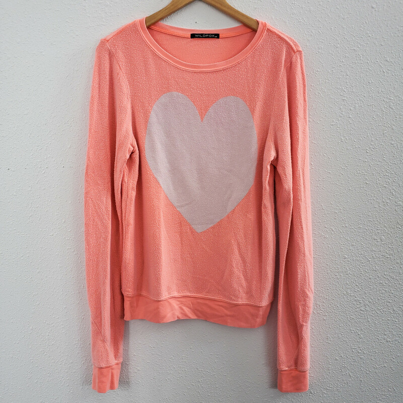 Wildfox Large Heart, Orange, Size: Xs