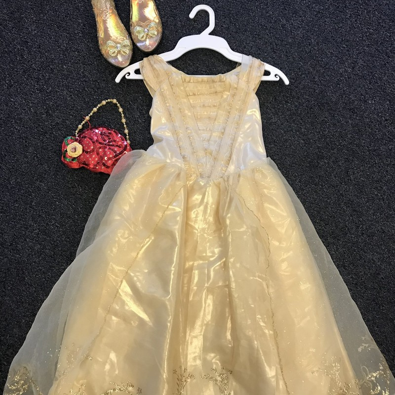 Disney Belle Dress with shoes & purse, excellent condition