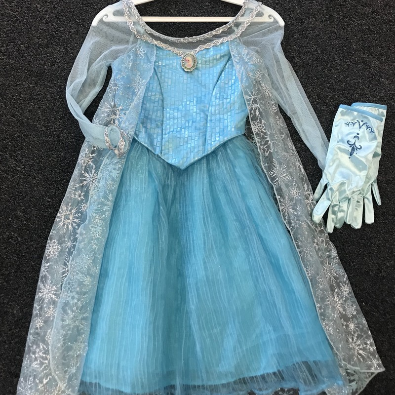 Disney Frozen Dress W/gloves, excellent condition