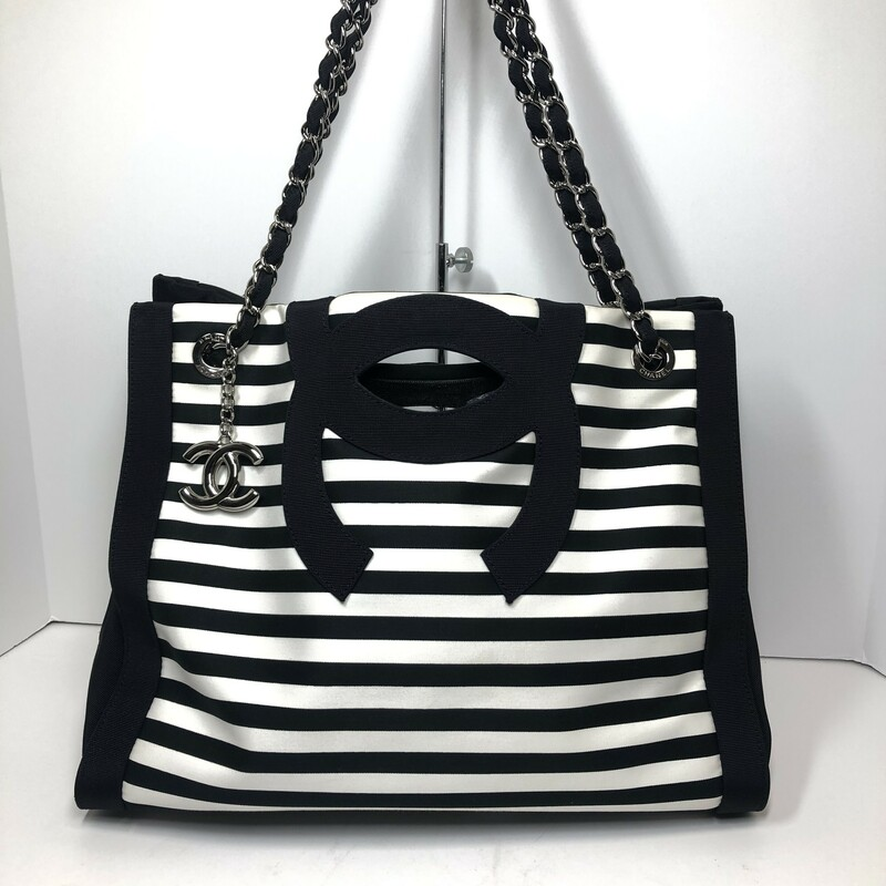 Chanel Canvas Striped Tote, $2499