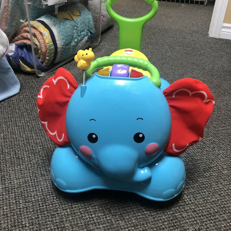 FP Elephant Ride On, Blue, Size: None