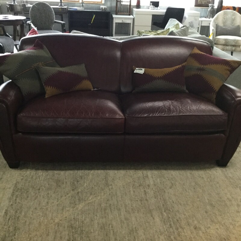 Arhaus Leather Sofa.