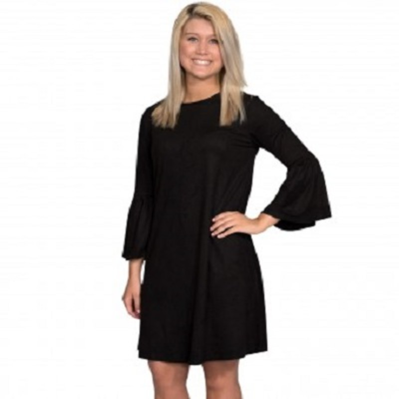 Check out our cute new arrived Simpy Southern Charlotte Dress. It is super cute, soft and flowy , you can wear this with a pair of booties or tall boots and look amazing. The material is made of 91% Polyester 9% Spandex with a length of 38in.