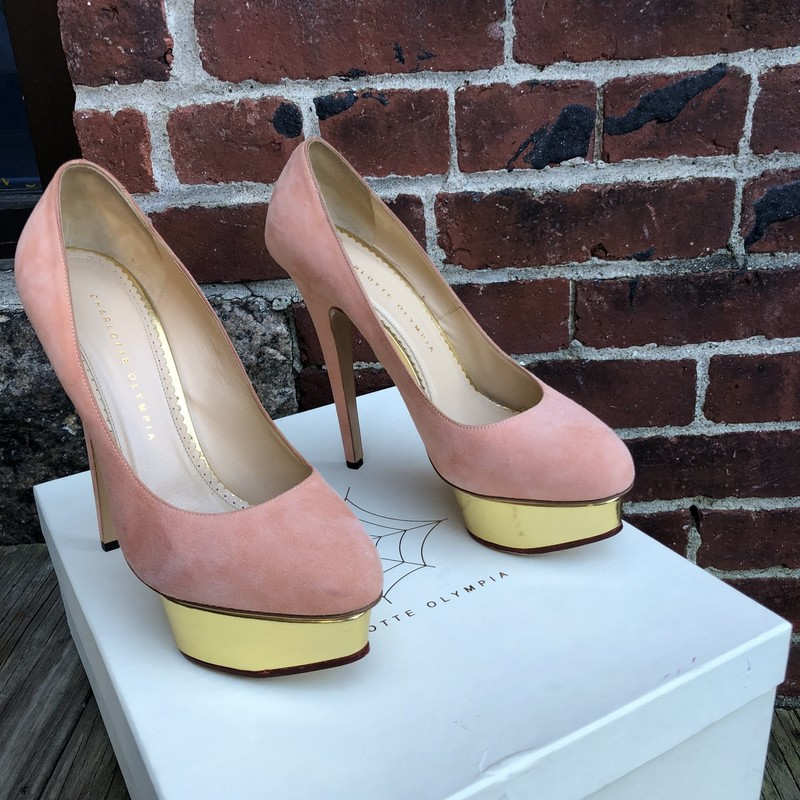 Charlotte Olympia Pumps, Peach, Size: 39.5<br /> New with box 4.5&quot;heel