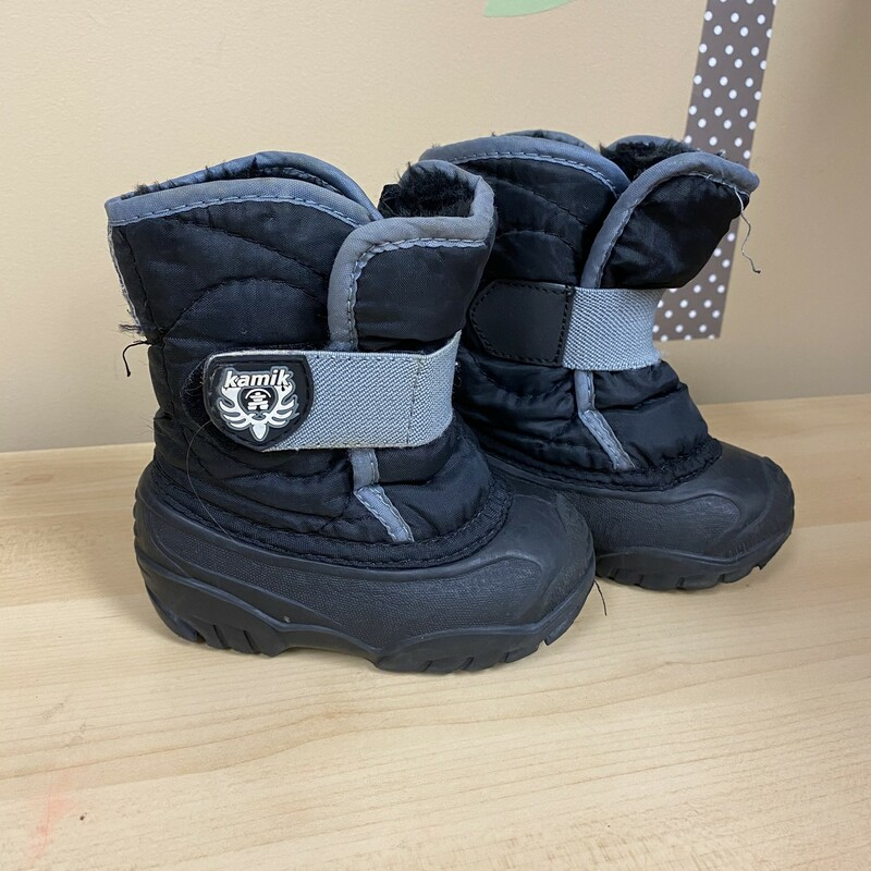 Kamik Winter Boots, Black, Size: 5<br /> condition-shows some wear