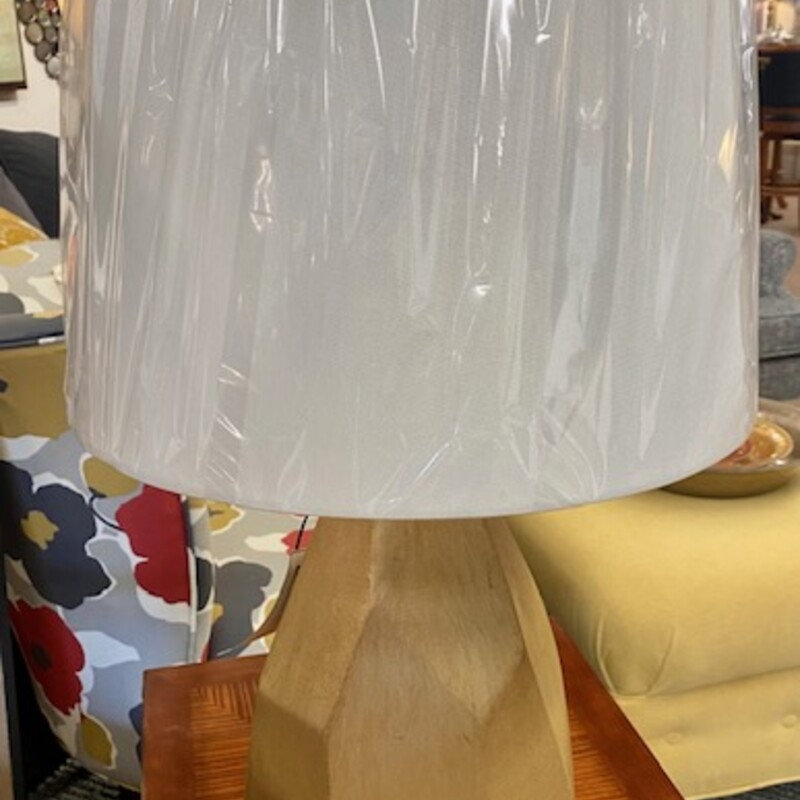 Brushed Geometric Lamp.