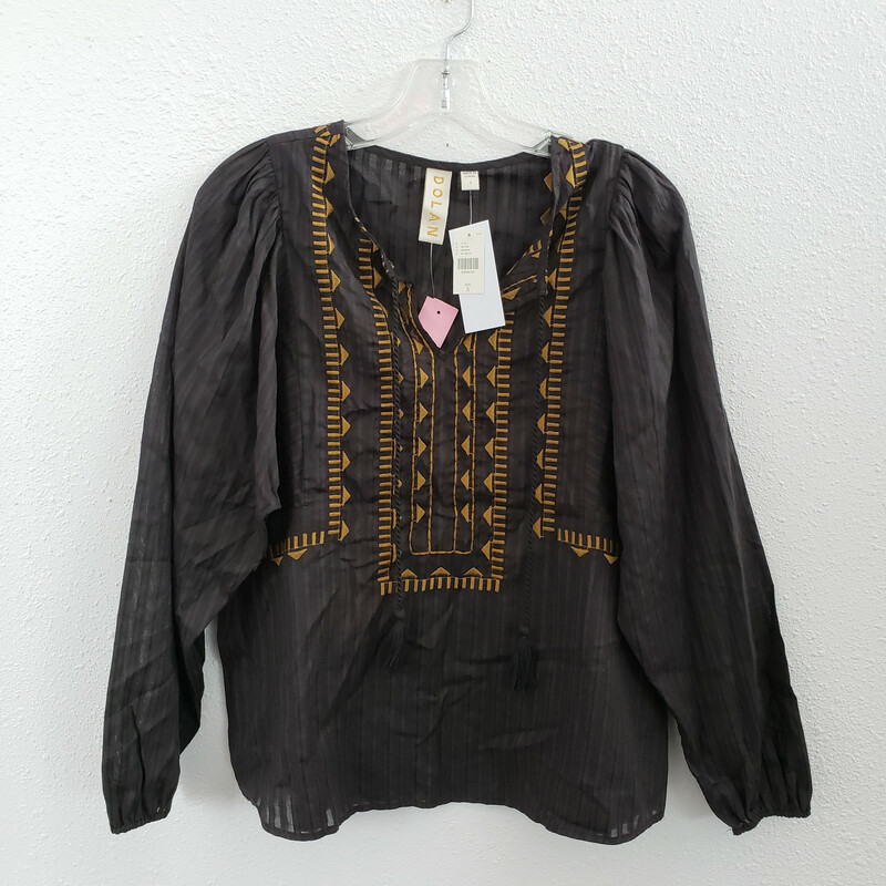 Dolan<br /> From Anthropologie<br /> Black with Brown Embroidery<br /> Size: Small<br /> NWT
