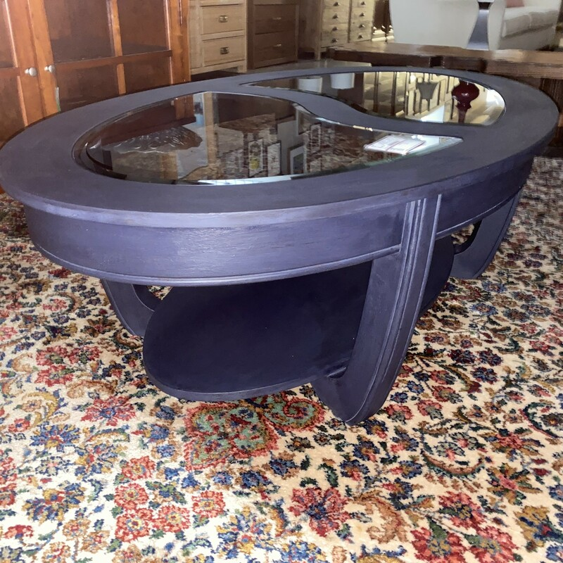 Oval Painted Coffee Table.