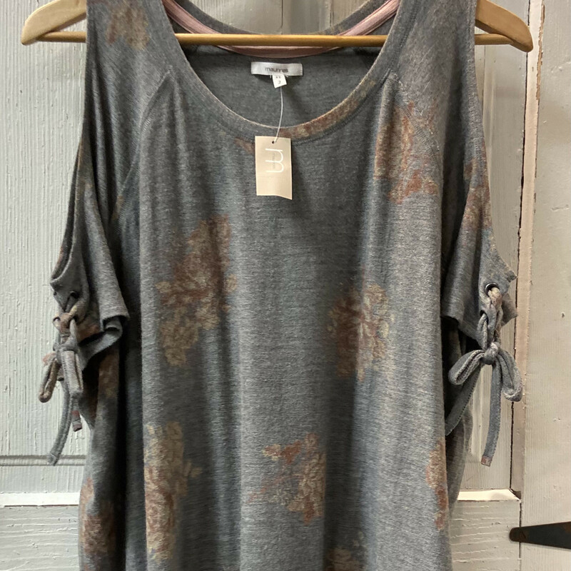 NWT Gry/brick Floral Cld.