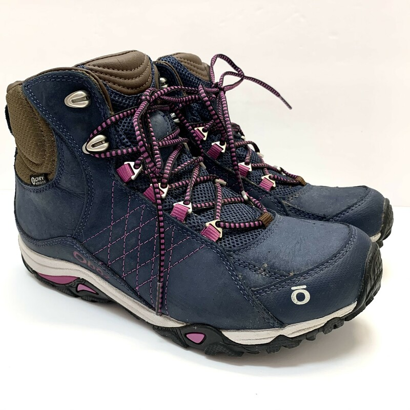 Oboz Waterproof Boots<br /> Huckleberry Blue<br /> Retails $160<br /> Size: 7.5