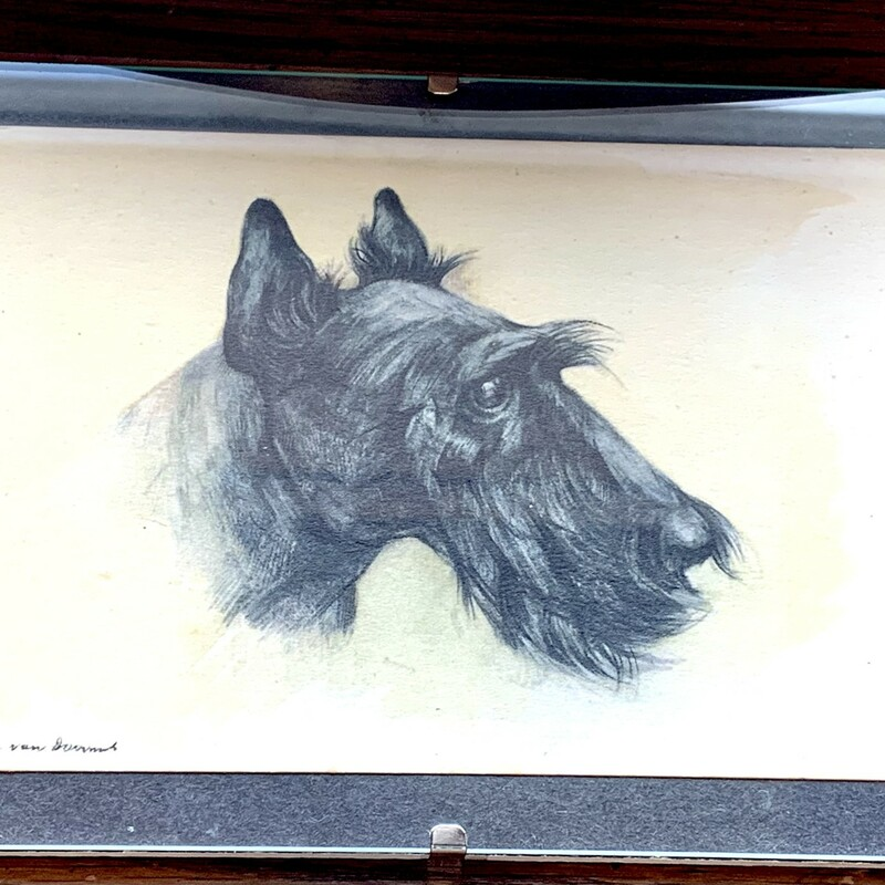"Vintage Scottie Drawing,<br /> $12.50, 5"" X 7"""