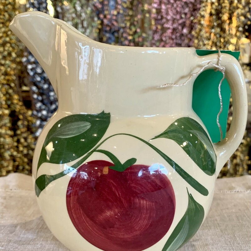 "USA Watt Apple Pitcher<br /> $20.50. 7"" Tall"