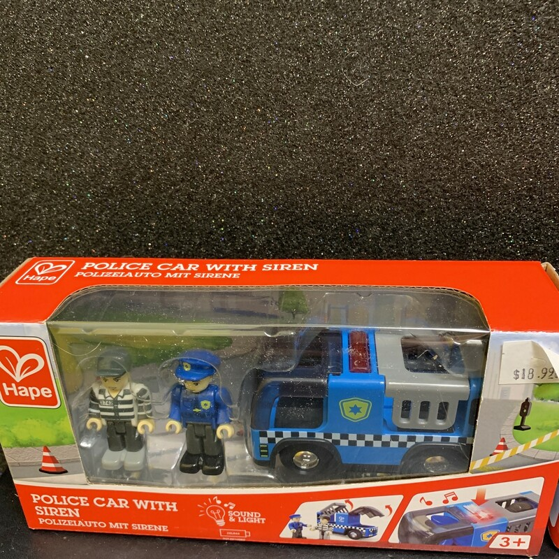 Police Car With Siren, 3+, Size: Pretend