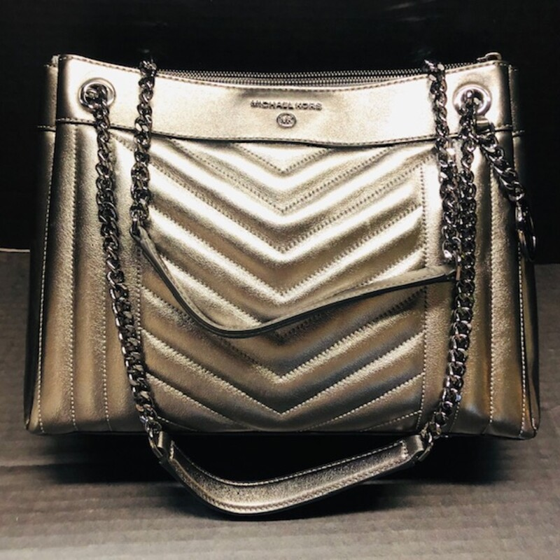 MK Platinum Shoulder Bag.