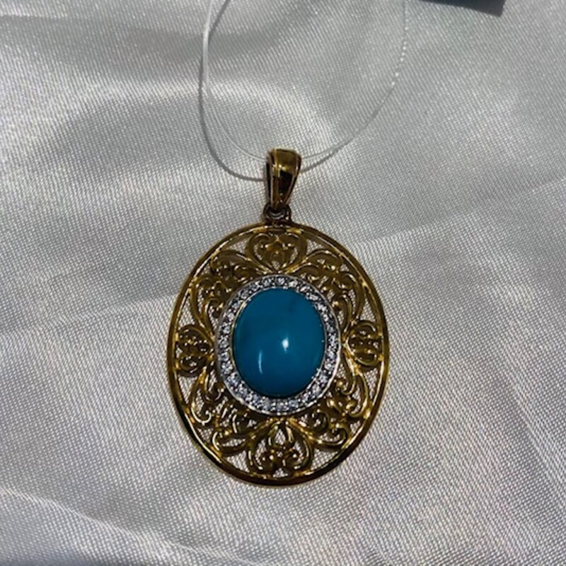 14kt Over 925 Blue Stone.