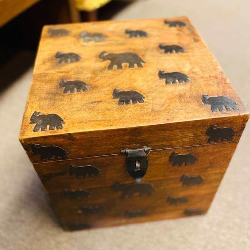 Wood Elephant Box.