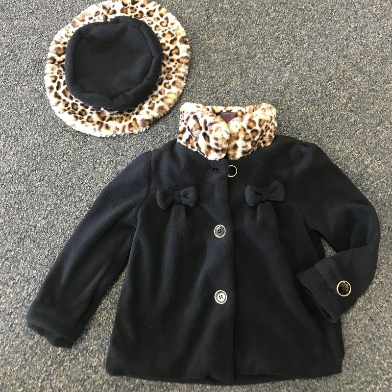 Coat, is super soft and has matching hat!