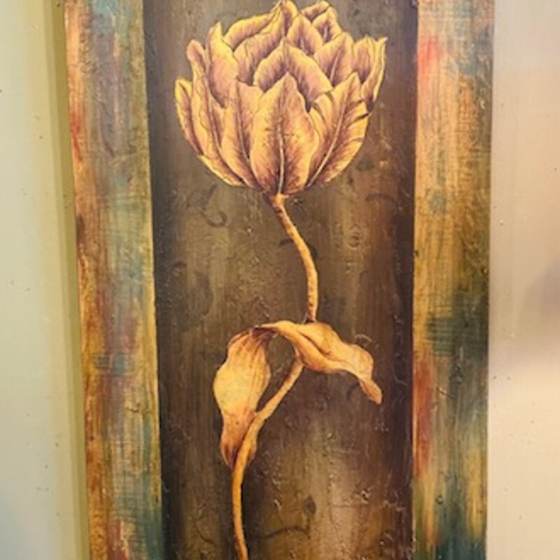 Distressed Tulip Plaque.