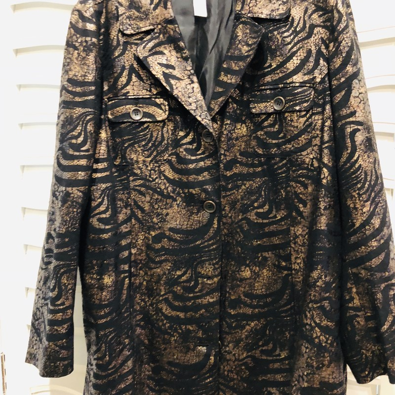 Chicos Copper Jacket, Copper-b, Size: XLarge<br /> new condition, size 3