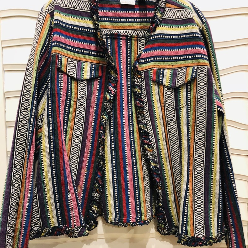Chicos Tapestry Jacket, Multi, Size: XLarge<br /> size 3