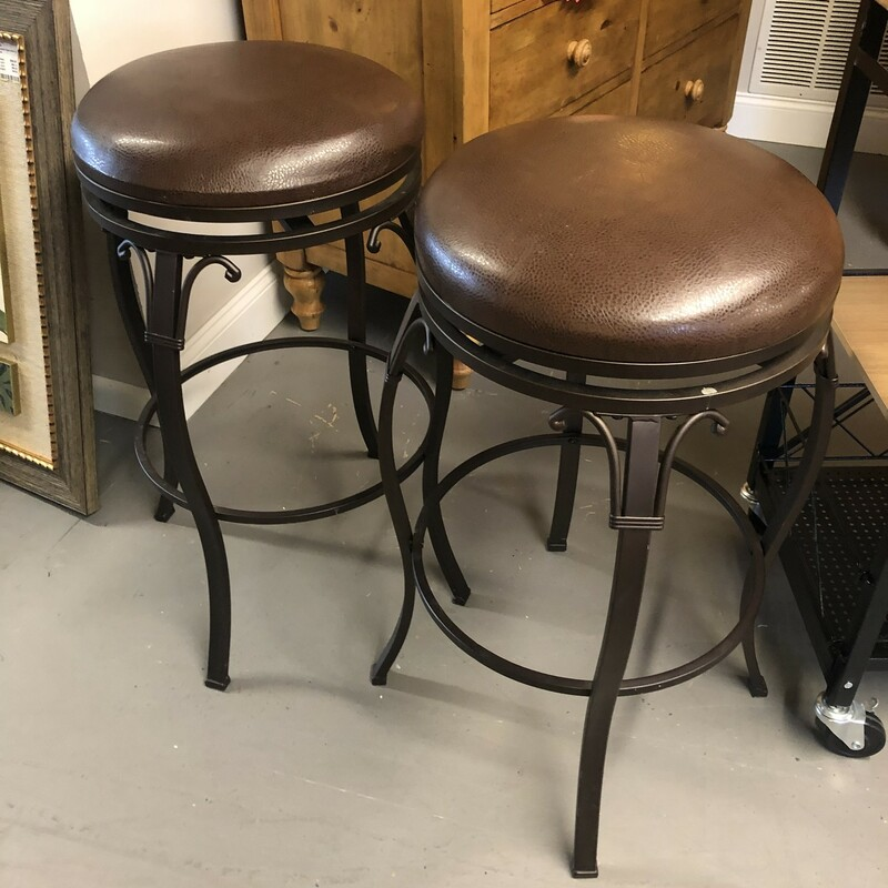 Swivel Leather Bar Stool.
