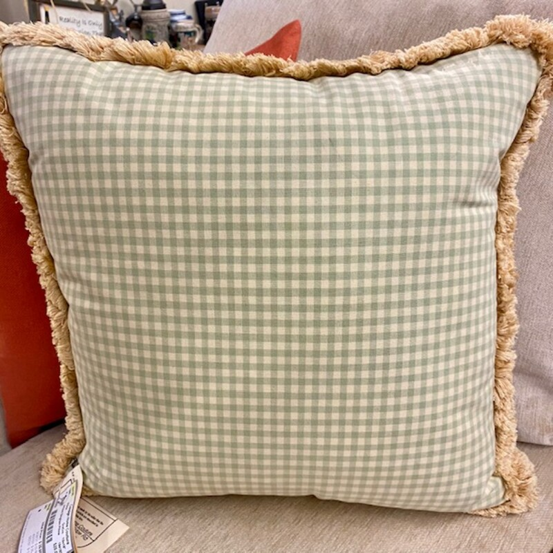 Arhaus Gingham Pillow.