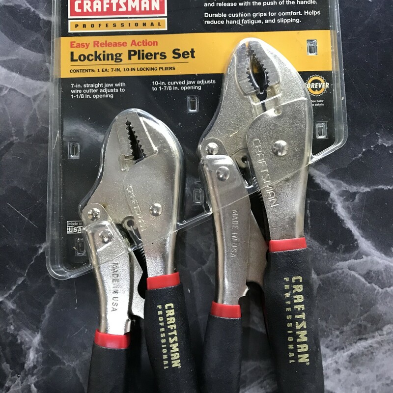 Locking Pliers Set.