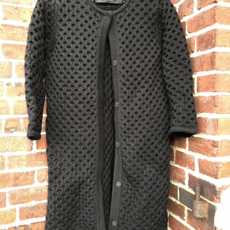 Yigal Azrouel Sweatercoat, Black, Size: Medium<br /> Stunning piece, new condition, button down front. Retail over $650
