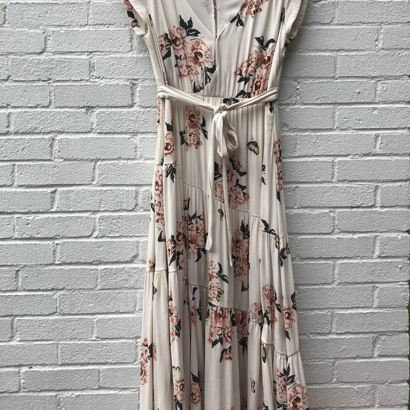 Free People, Ivory Fl, Size: 10<br /> Excellent condition