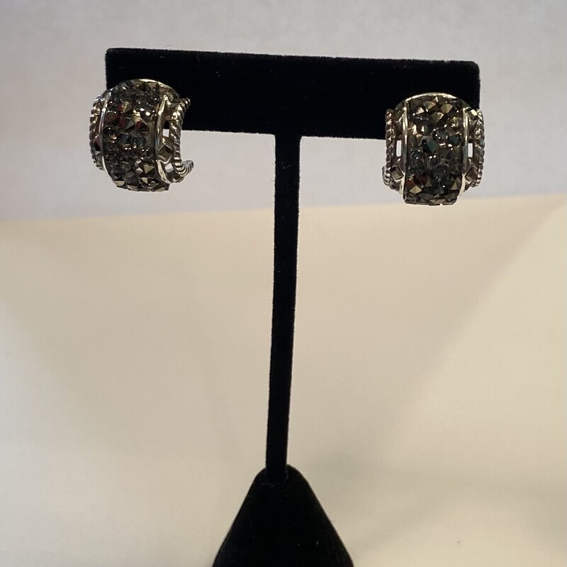 Slv Crystal Drzy Earrings.