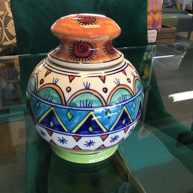 Colorful Cookie Jar.