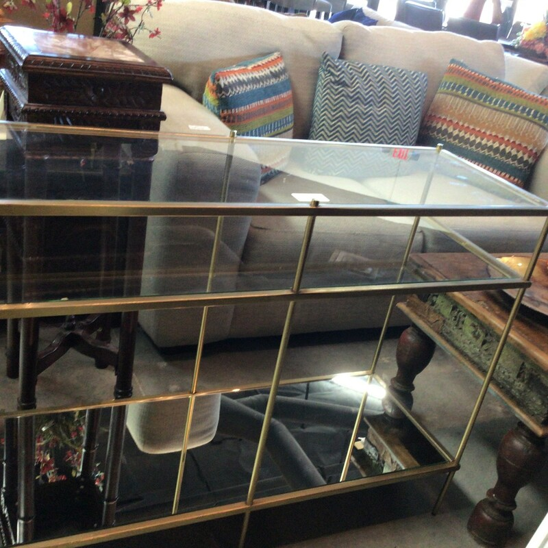 Gold/Glass Entry Table, Gold, West Elm<br /> 20' x 24' x 27' tall