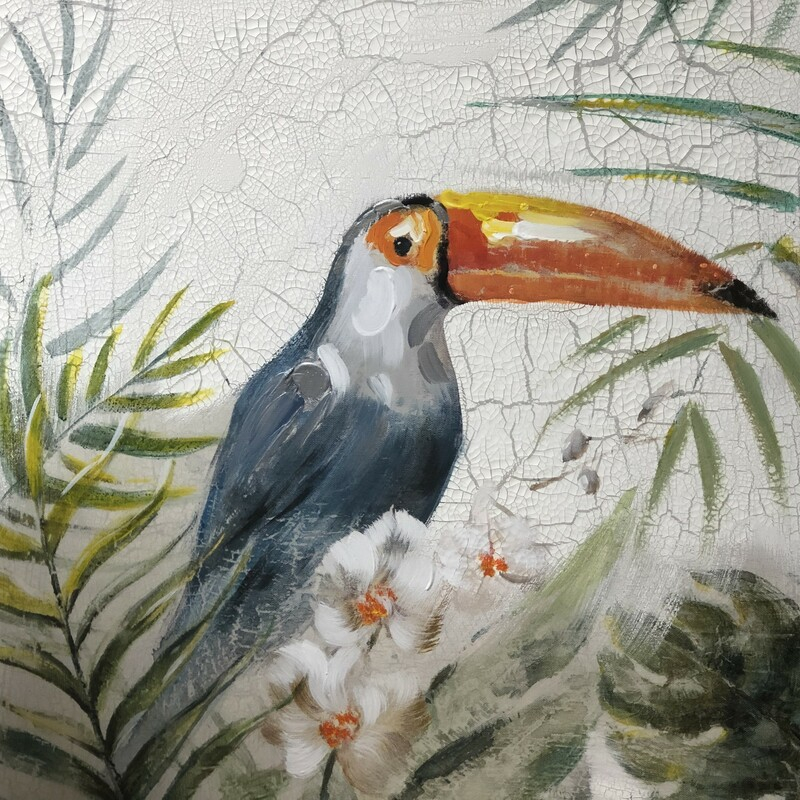 "Toucan Wall Art, Used, Size: 24"" X 24\"""