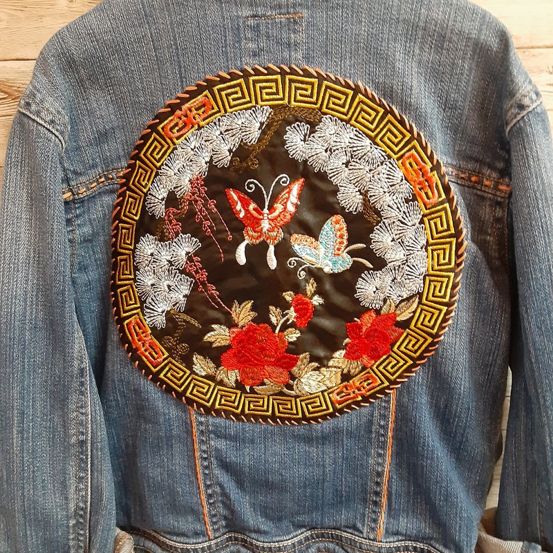 Re-threads Denim Jacket.