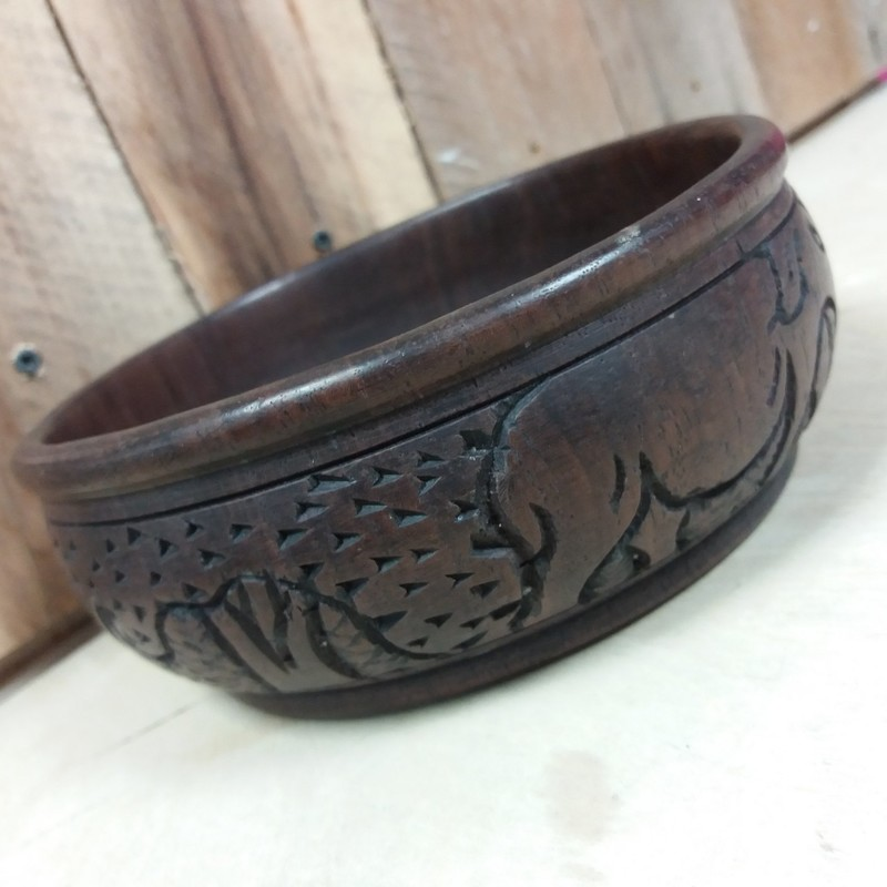 Wooden Carved Bowl, Wood, Size: None