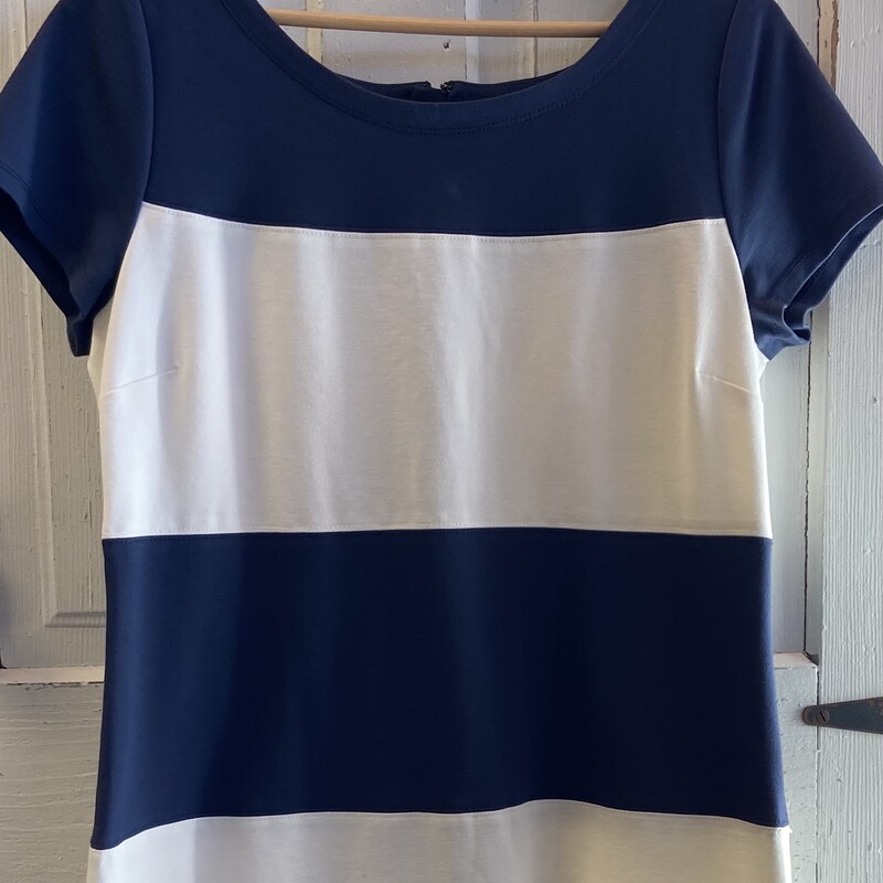 Navy/crm Stripe Dress.