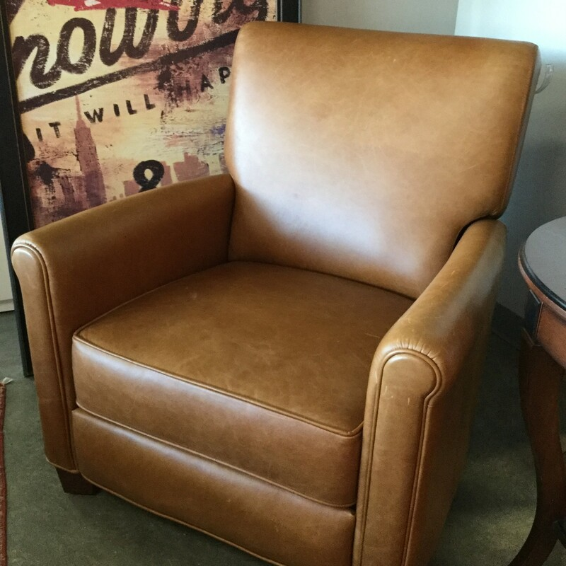 "Pottery Barn Leather Recliner, Custom, Size: 32""x36""x36"""