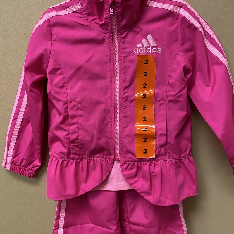 Adidas 3pc Suit NEW, Pink, Size: 2