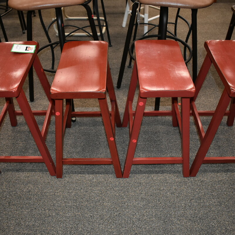 Set Red Bar Stools.