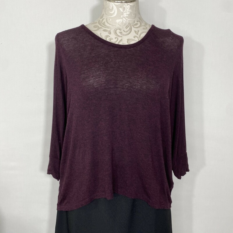 Splendid Mid Lenth Sleeve, Maroon, Size: Small