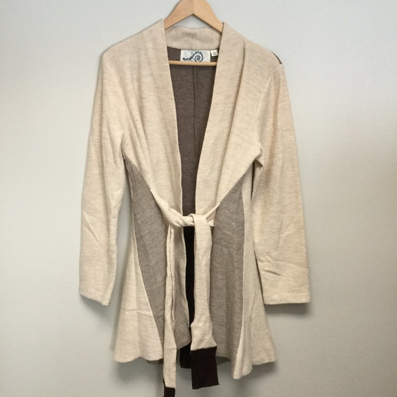 Rosie Neira Colorblock Cardigan<br /> Size M<br /> Tan/Gray<br /> $24.00