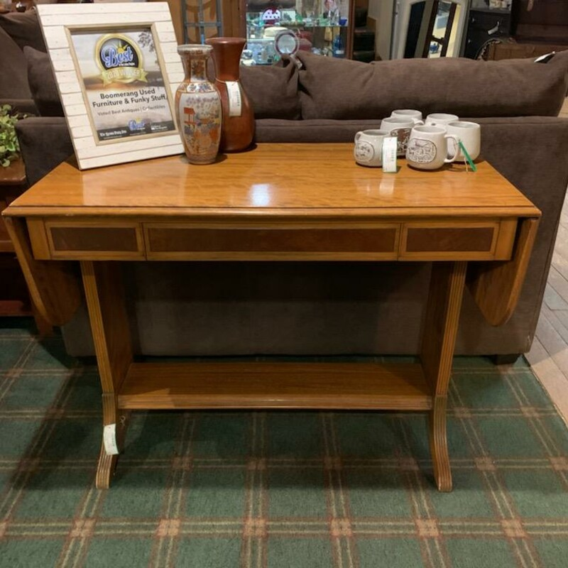 Sofa Table W/Drop Leaf.