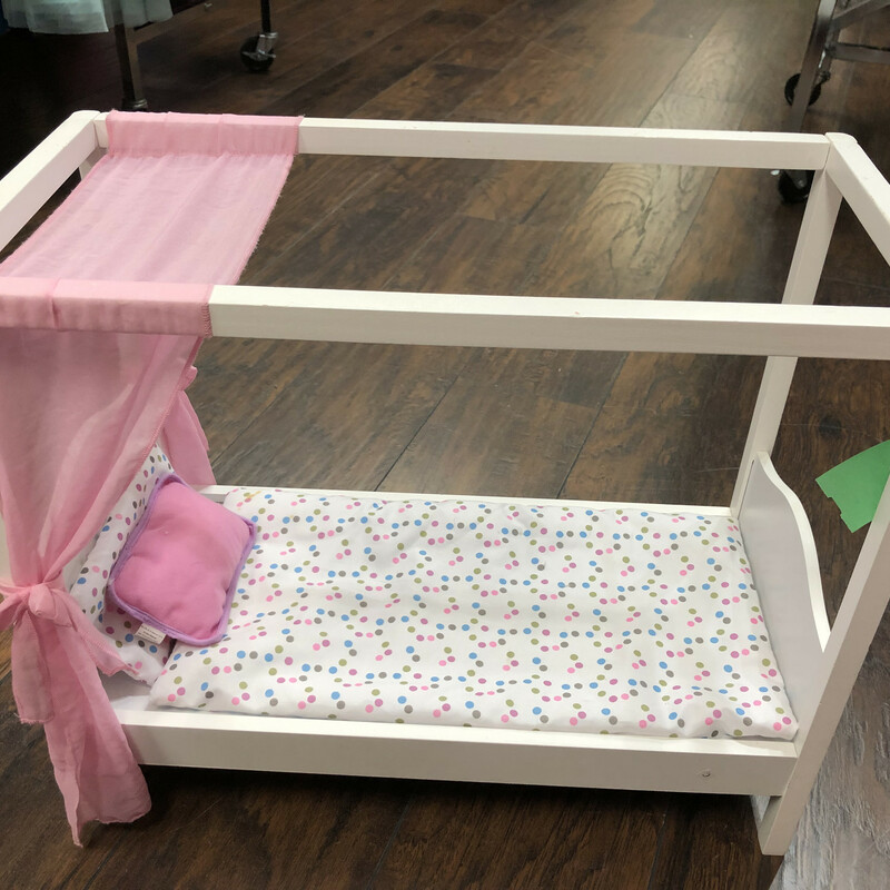 Doll Bed W/ Bedding.