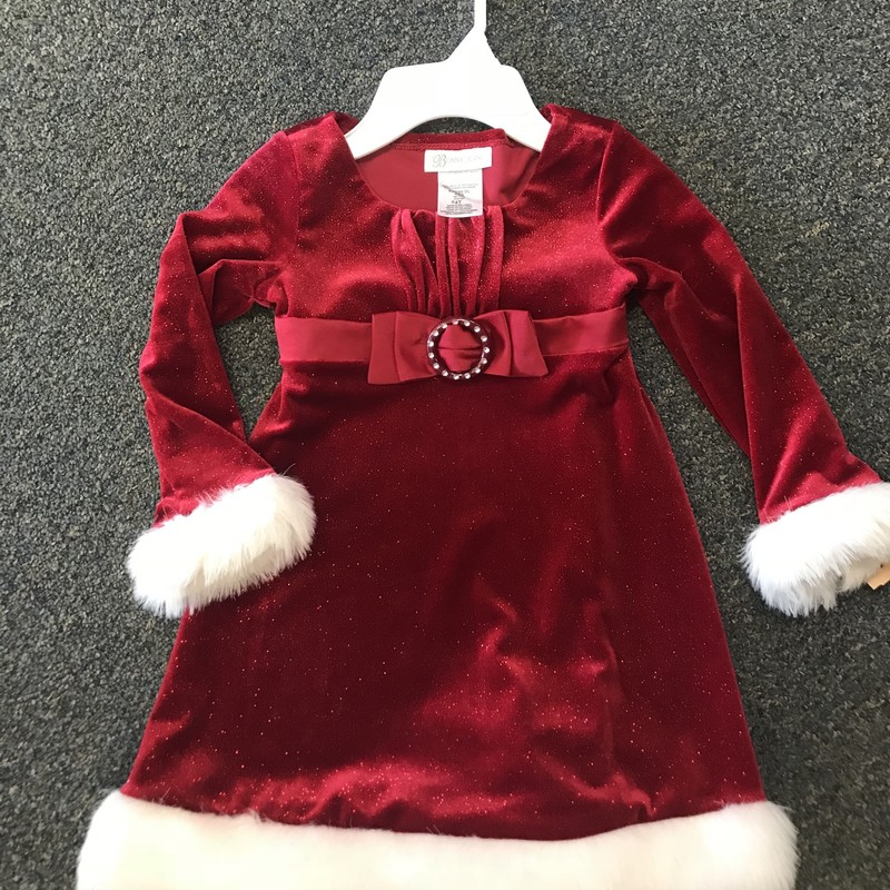 Bonnie Jean LS Holiday Dress, excellent condition
