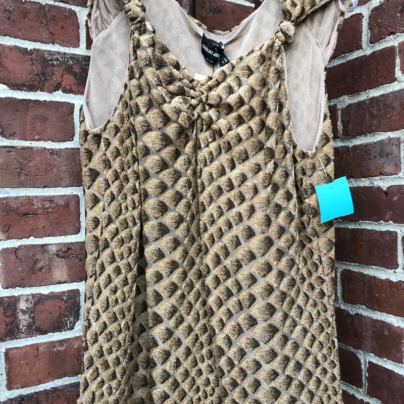 Giorgio Armani Tank NWT, Brown, Size: 8<br /> New with $795 price tags