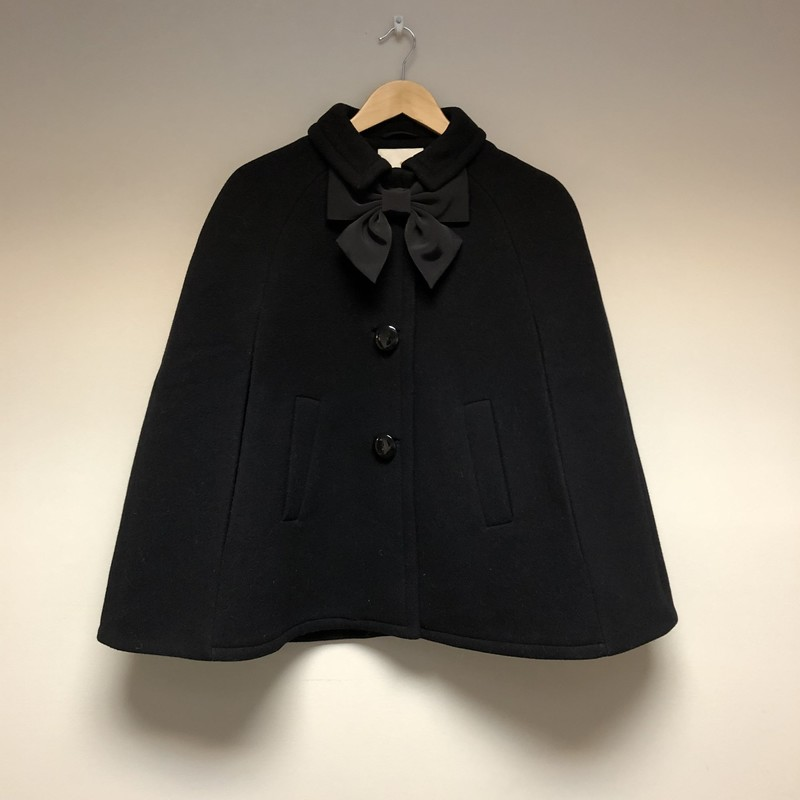 Kate Spade Bow Capelet<br /> Size Medium<br /> Color Black<br /> Price $62.00