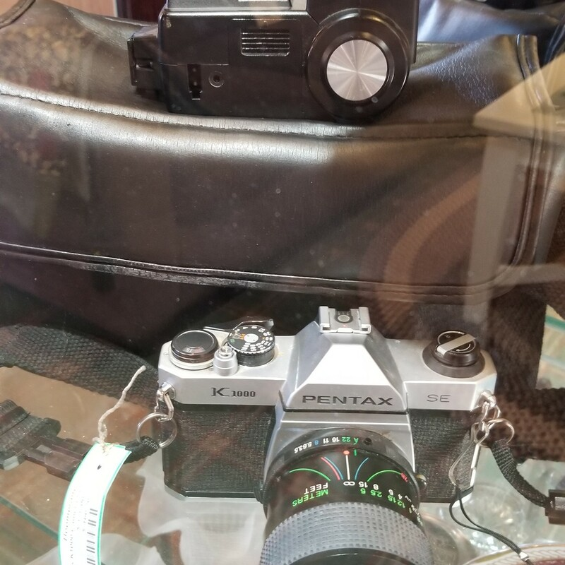 Pentax K1000 Camera Set - $178. Comes with Case, Vivitar 283 Flash and Vivitar Macro Lens.