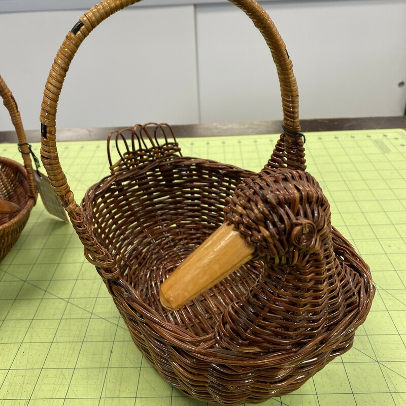 Chinese Duck Basket, Brown, Size: 10x7x3